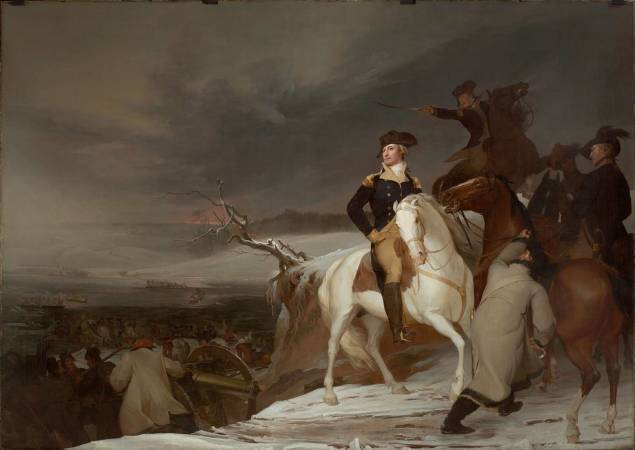 Thomas Sully,《The Passage of the Delaware》,1819。圖/取自wikiart