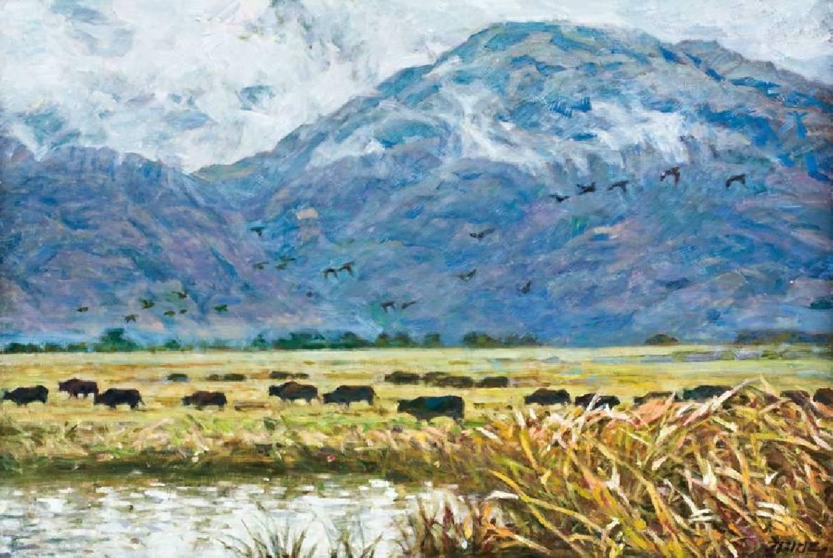 李全淼  大九湖濕地  100x150cm  油畫  2013