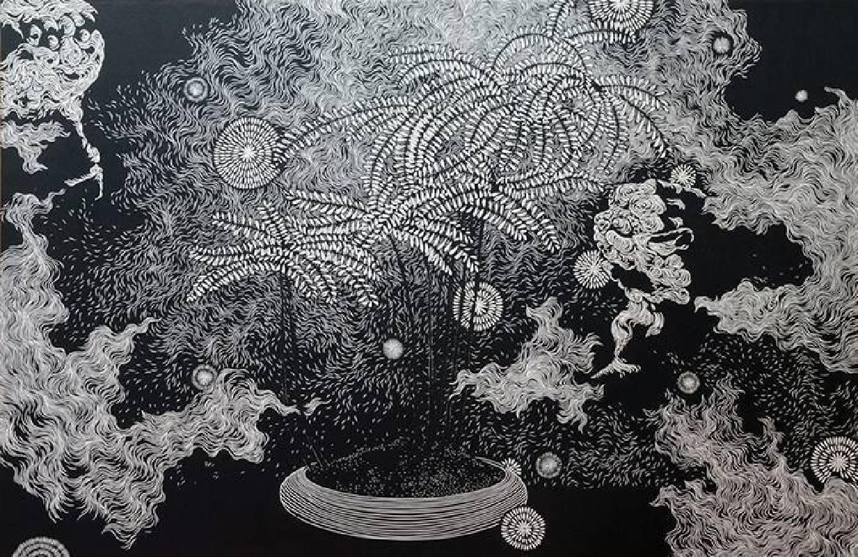 林羿束,《樹的風景VII》,2013。