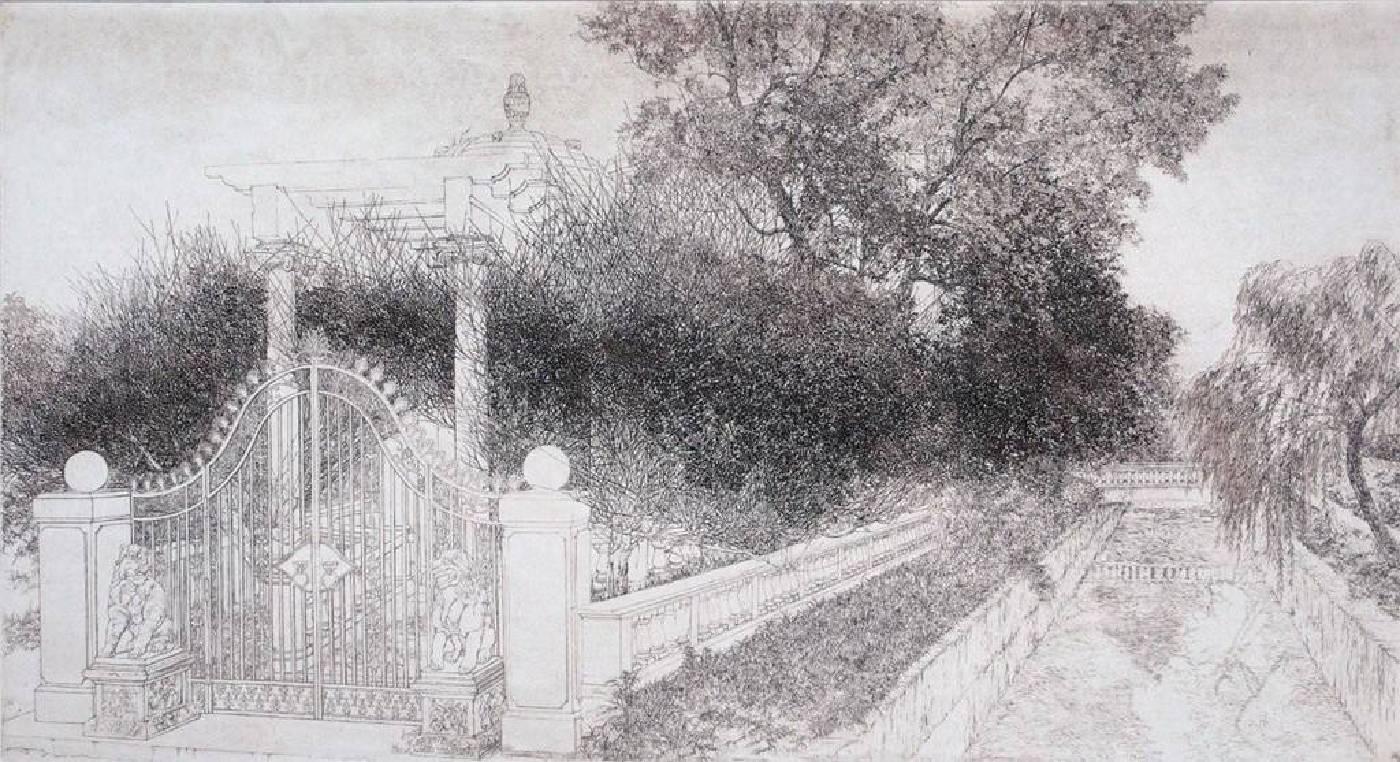 楊炯杕-距離-蝕刻版畫-33x61cm-2008