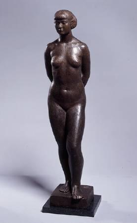 陳夏雨,《裸女之一》,1944。(高美館藏)
