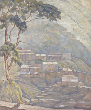 林克恭,《金礦─九份》,1956。(北美館藏)
