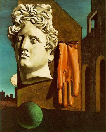 Chirico,《Love Song》(戀歌),1914。