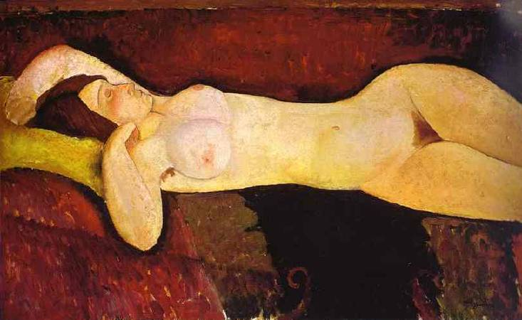 Amedeo Modigliani,《  le grand nu》 (the great-nude大裸婦),1917。