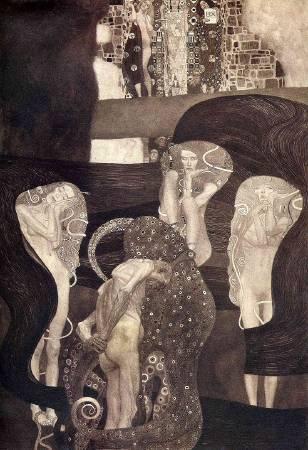 Gustav Klimt,《Jurisprudence》(法學),1907。圖/取自Wikipedia。