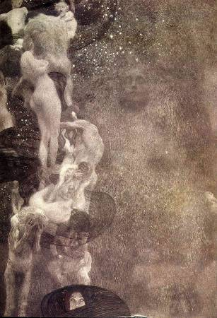 Gustav Klimt,《Philosophy》(哲學),1907。圖/取自Wikipedia。