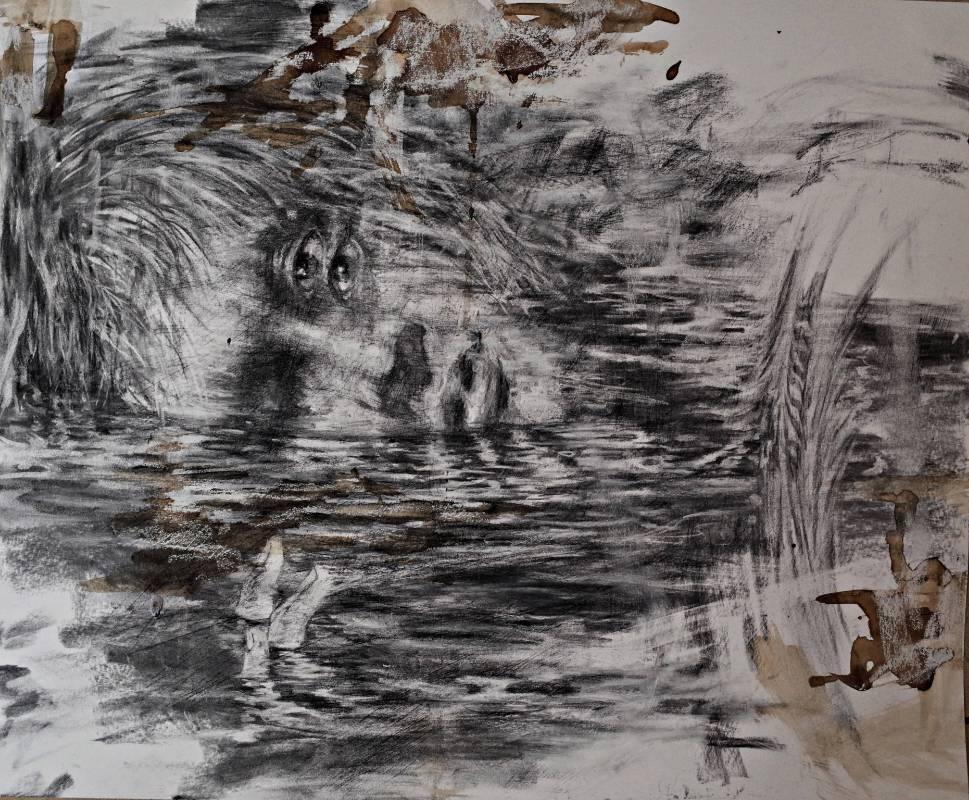 趙璐嘉 APT 500-13:49 35.6x43.2 cm 炭筆、咖啡、紙本 2015