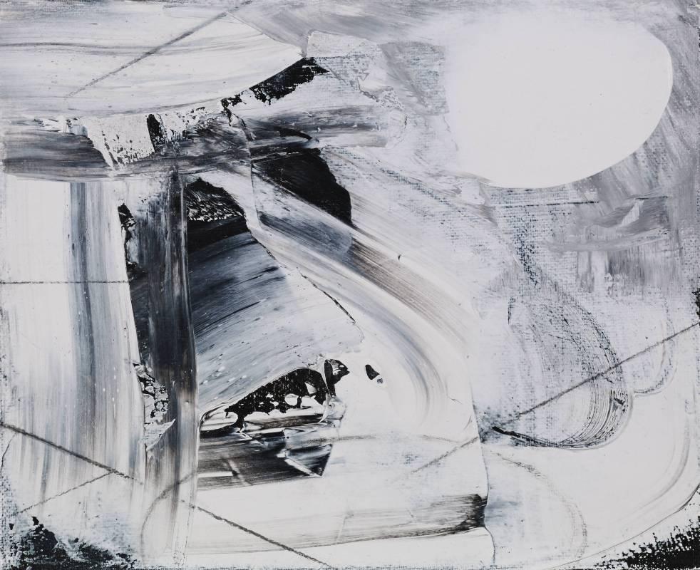 邱掇 溯月  27 x 22 cm 壓克力、鉛筆、炭筆、畫布 2015