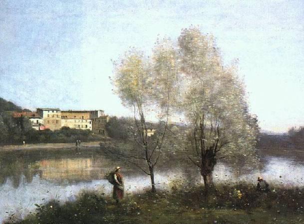 柯洛,《維達拉福瑞小鎮》,1867。