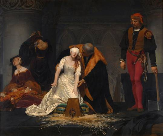 Paul Delaroche,《The Execution of Lady Jane Grey》,1833。圖/取自wikiart。