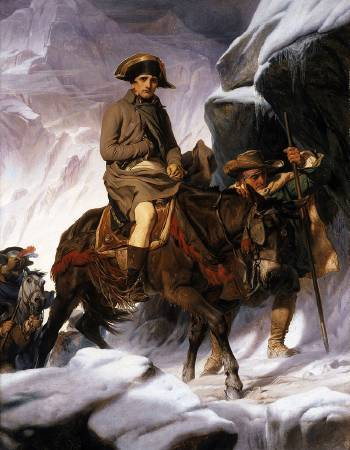 Paul Delaroche,《Napoleon Crossing the Alps》,1850。圖/取自wikiart。