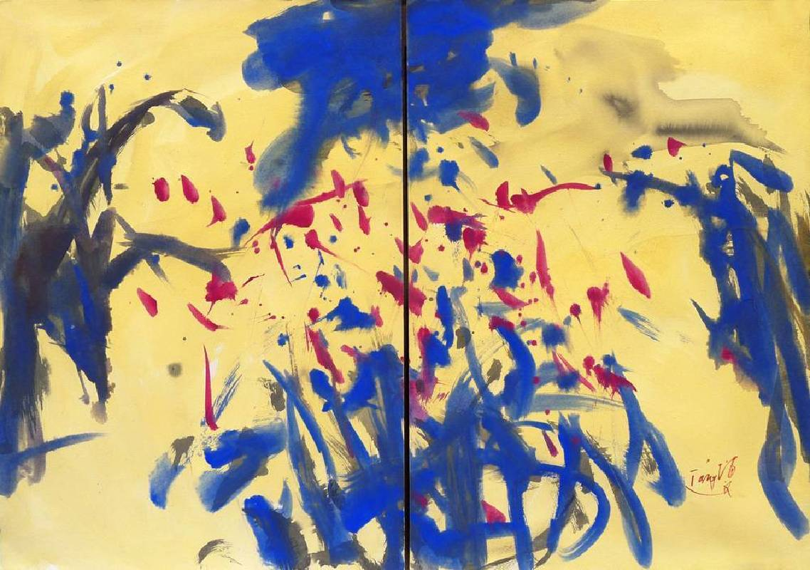 曾海文 Tang Haywen 音樂系列 Symphony Series 70×100cm 彩墨紙本雙幅 Ink and color on paper Dipyth