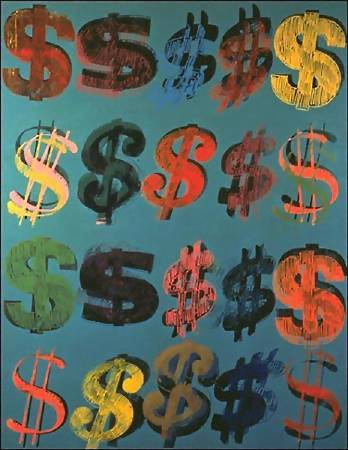 Andy Warhol,《Dollar Sign》,1981 ©Andy Warhol。圖/取自wikiart。