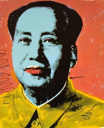 Andy Warhol,《Mao》,1972 ©Andy Warhol。圖/取自wikiart。