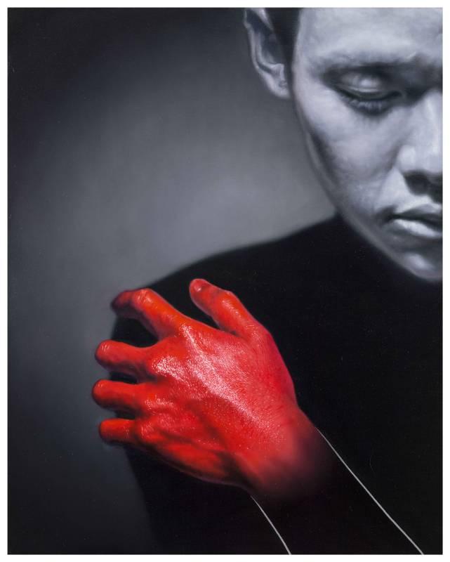 林宏信,《紅的獨白 II》,2015。