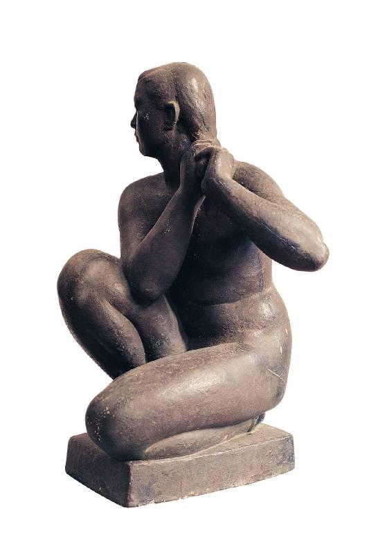 陳夏雨,《梳頭》,1948。