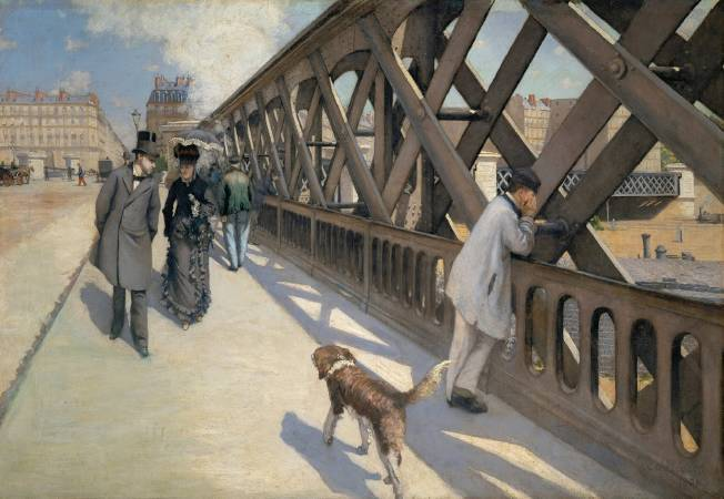 Gustave Caillebotte,《The Europe Bridge》,1876。圖/取自Wikipedia