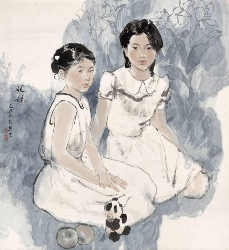 劉振夏,《姐妹》,1985。