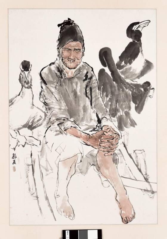 劉振夏,《漁婆》,1980。