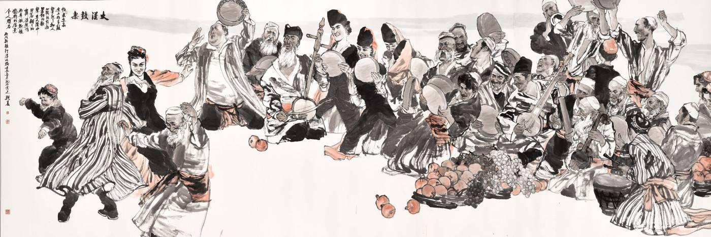 劉振夏,《大漠鼓樂》, 2012。
