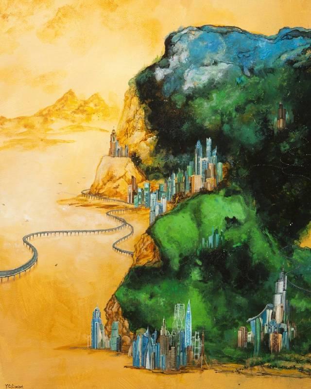 賴雅琦《大千世界‧江山依舊24》丙烯.畫布  72.7×91.3cm
