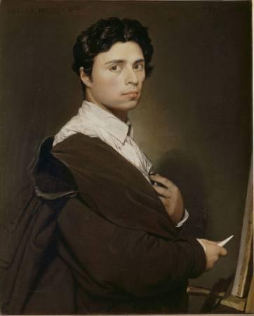 安格爾,《二十四歲的自畫像》,1804。圖/取自wikipedia