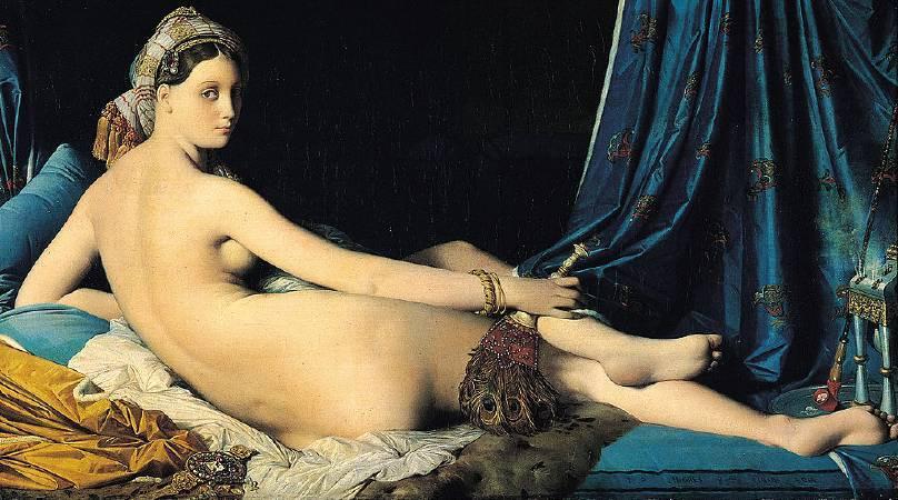 安格爾,《大宫女》,1814。圖/取自wikipedia