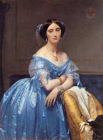 安格爾,《布羅格麗公主》,1853。圖/取自wikipedia