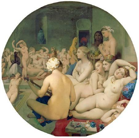 安格爾,《土耳其浴女》,1862。圖/取自wikipedia