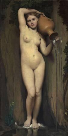安格爾,《泉》,1856。圖/取自wikipedia