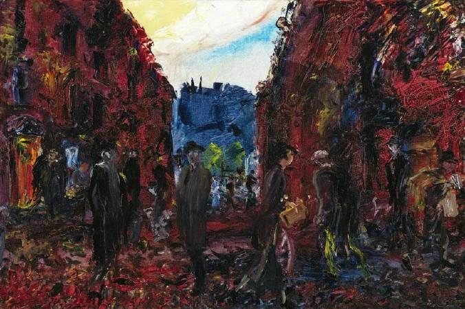 傑克‧葉慈,《Morning in a City》,1937。圖/取自Ortioricellari