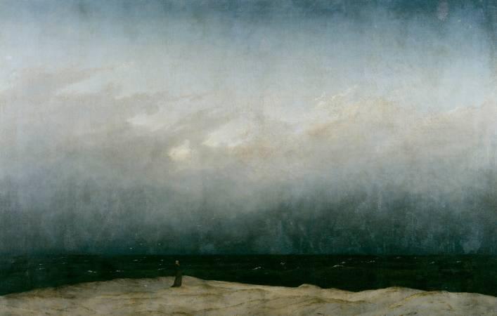 佛列德利赫,《海邊的修道士》,1809。