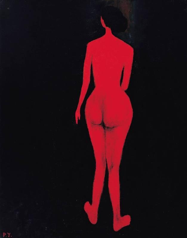 王攀元 Wang Pan Youn 紅影 A Red Shadow 116.5x91cm 1980 油畫 Oil on Canvas