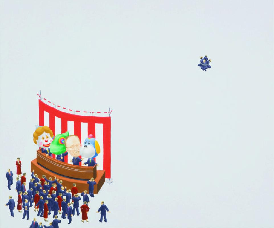 西澤千晴 Nishizawa Chiharu 世說新語-調性 Like Today's in Tone  61x73cm 2009 壓克力彩 畫布 Acrylic on Canvas