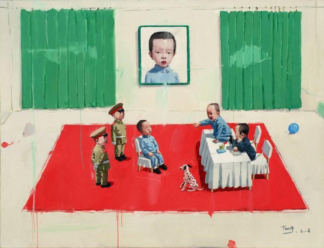 唐志岡 Tang Zhi Gan 中國童話 Chinese Fairytale 130x170cm 2008 油畫 Oil on Canvas