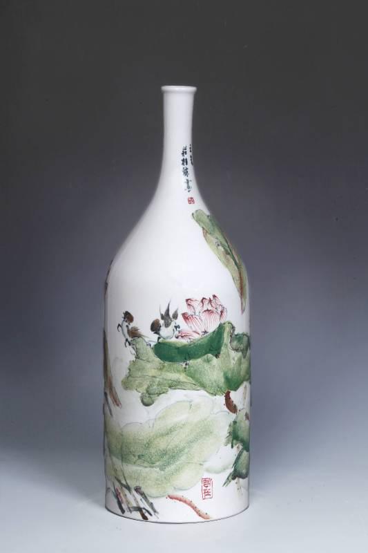 莊桂珠 《酒瓶》 2015  28×48公分