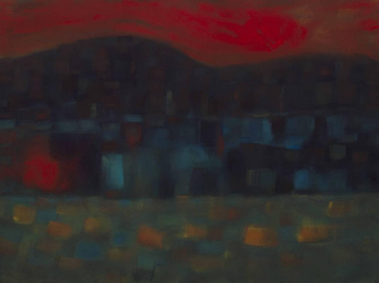 無休止的天空,2008,61.2x45.8cm,水彩、紙本