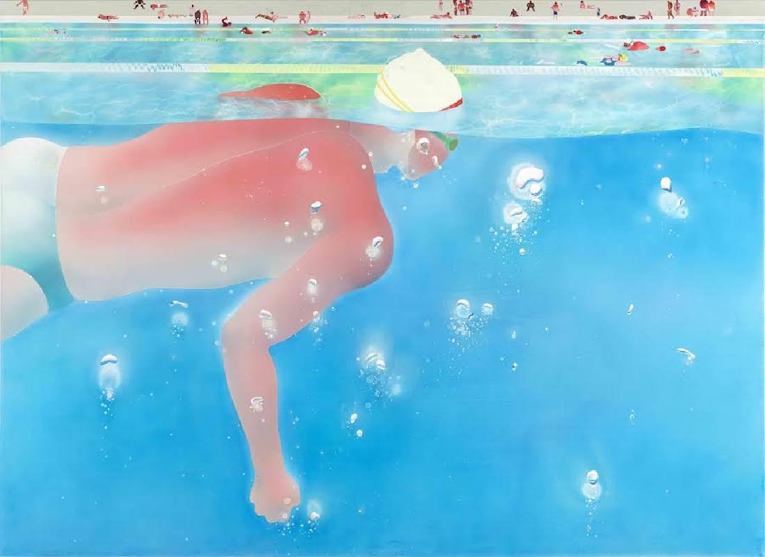范揚宗 泳池系列-漂浮2
