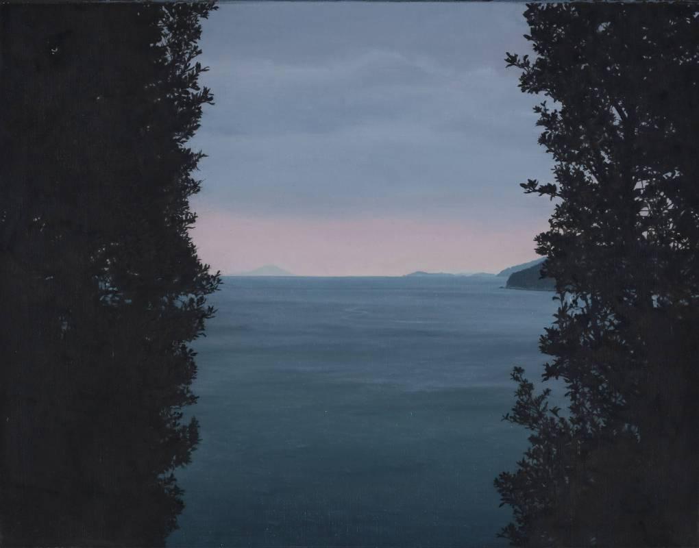 廖震平 直島naoshima 41x53cm 油彩、水性樹脂顏料、畫布 2015