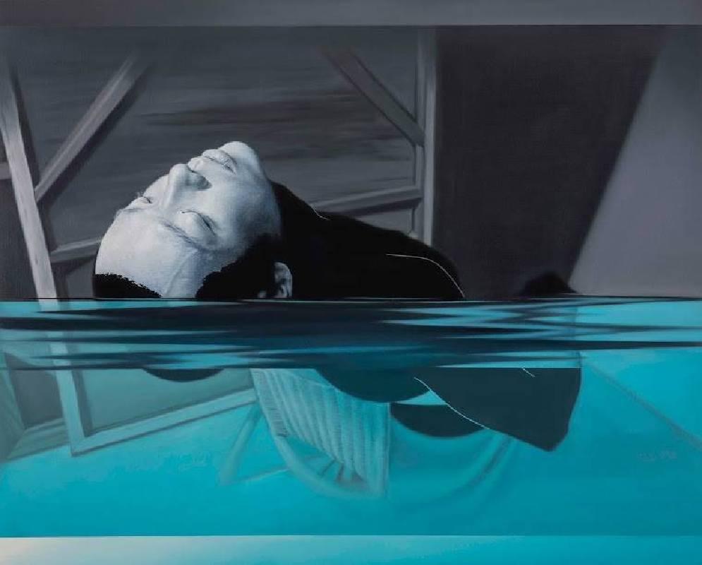 林宏信,《泅泳者1》。