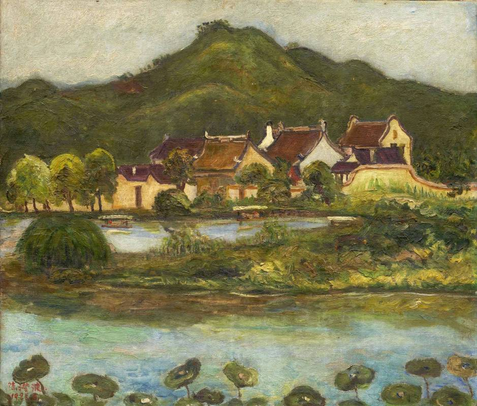 陳澄波,《杭州古厝》,1928。