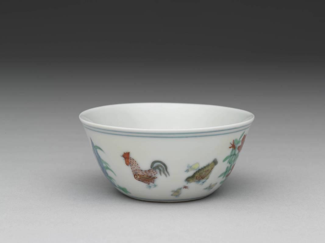 明 成化窯 鬥彩雞缸杯