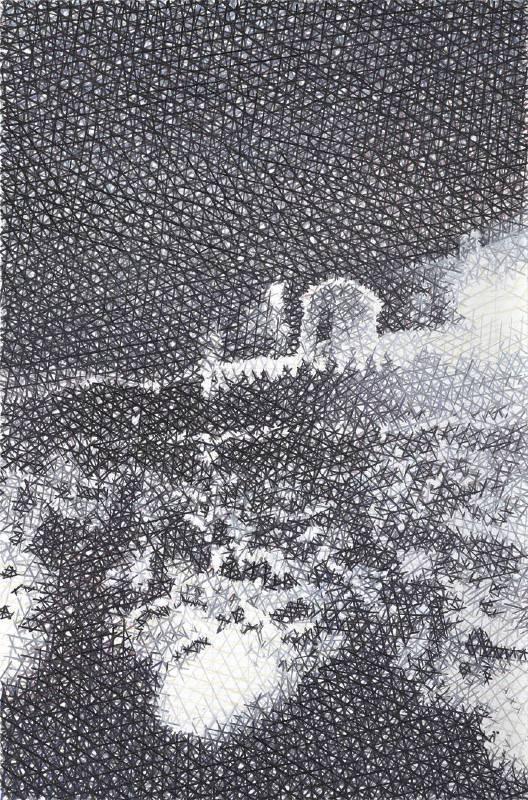 鄭君殿,2013-2015,《夜的城堡》,油彩/畫布,215 x 142 cm