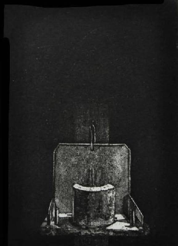 李迪權 <天神>,凹版(細點腐蝕),10X14cm 2012 ed.10