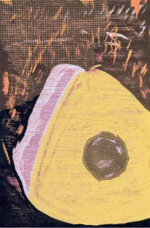 "饒祗豪 <Sewing ""Special"" Tools- Tailor's Chalk‧裁縫小三寶–粉土>, Woodcut‧單版複刻 38 ×28cm 2011 Ed.20"