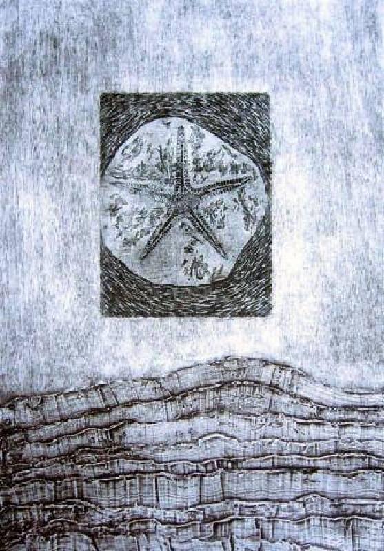 葉家豪 <蟄伏Ⅰ>,2007,綜合併用版、油墨、紙,76 × 53cm collagraph