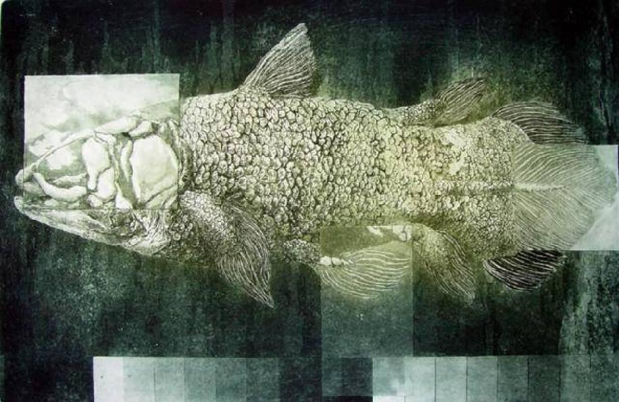 葉家豪 <記憶的片段Ⅰ>,腐蝕凹版、2003,油墨、紙40×60cm etching
