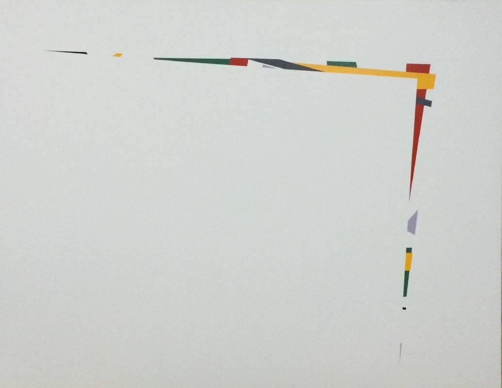楊智偉 覆上 116.5x91cm 壓克力顏料丶全麻 2015
