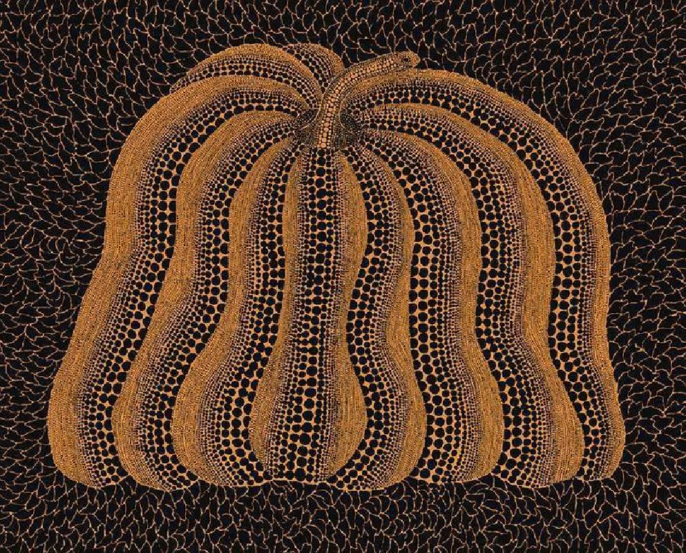 草間彌生《Dflo Pumpkin》130.3x162cm, 壓克力畫布 Acrylic on Canvas, 2013