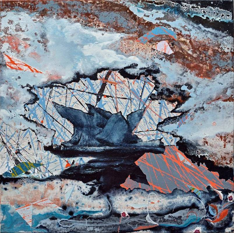 Michael Sistig | Mimacrocosmic 3 | 82x82x3.6cm | Mixed Technique on Canvas | 2015